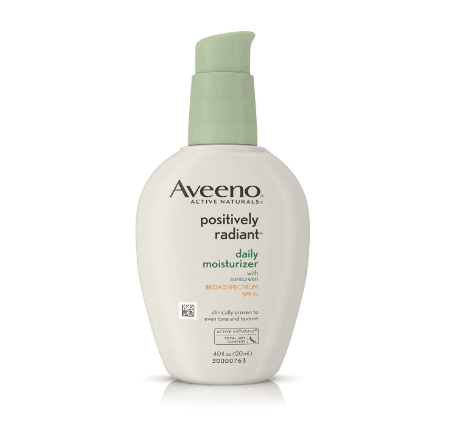 Aveeno Positively Radiant Daily Moisturizer With Sunscreen Spf 15