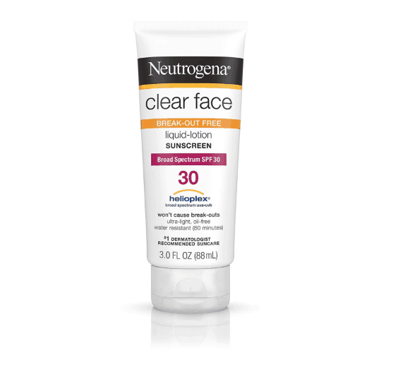 Neutrogena Sunscreen Clear Face