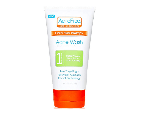 AcneFree Daily Acne Face Wash 4.8 oz with 2% Salicylic Acid