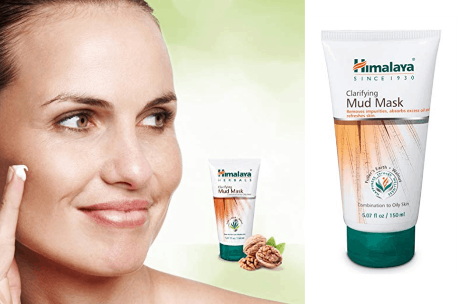 Himalaya Clarifying Mud Mask for Combination Skin and Oily Skin, Deep Cleansing Face Mask