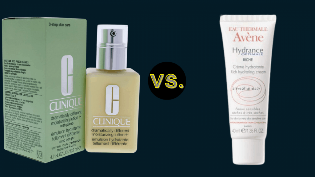 Clinique Dramatically Different Moisturizing Lotion With Pump Vs. Avene Hydrance Rich Hydrating Moisturiser
